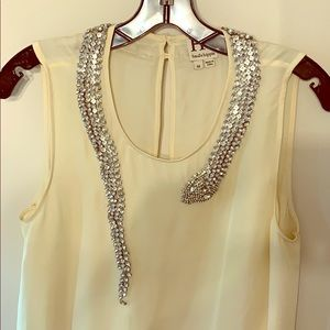 Haute Hippie exquisite silk and rhinestone top